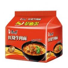 康师傅红烧牛肉面(5连包)