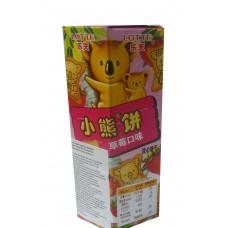 乐天熊仔饼(草莓味)